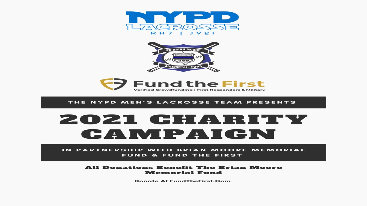 THE NYPD LACROSSE TEAM 2021 CHARITY CAMPAIGN