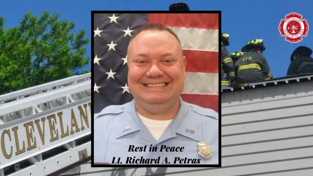 Plaque for Firefighter Lt. Richard A. Petras COVID-19 Related Death